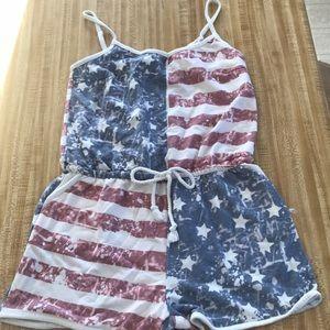 Rue 21 American flag romper size medium